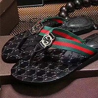 GUCCI: men and women fashion casual slippers Shoes