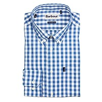 Auton Tailored Fit Button Down in Aqua by Barbour