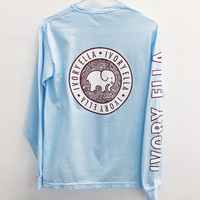 Sky Blue Campus Long Sleeve Tee