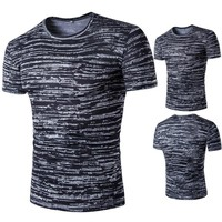 Korean Casual Men's Fashion Summer Plus Size Short Sleeve Fashion T-shirts [9883852611]