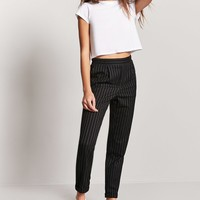 Pinstriped Ankle Pants