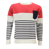 Cut and Sew Crew Neck Sweater