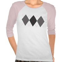 Gray and Red Argyle T-Shirt