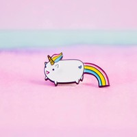 Pooping Rainbow Unicorn Enamel Pin
