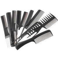 1 Units (Contain10 pieces) Black Professional Combs Barber Styling Barbers Sept. 15 cm-23 cm