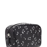 Metallic Musical Note Cosmetic Pouch