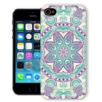 ChiChiC® Iphone Case, i phone 5 5s case, Iphone5 Iphone5s covers, plastic cases back cover skin protector,geometric purple blue mandala