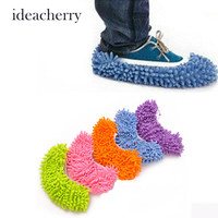 ideacherry New Lazy Mopping Shoes Floor Moppers Slippers Mop Floor Polishing Dusting Cleaning Cover Cleaner Cleaning Foot Socks