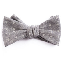 Charcoal Dot Bow Tie