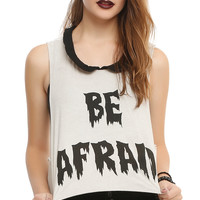 Iron Fist x Ash Costello Bat Royalty Be Afraid Girls Crop Tank Top