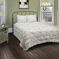 Soft Dreams Lt Gray Twin Size Comforter Bed Set