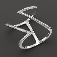Khai Khai 18K White Gold Double 7 Ring