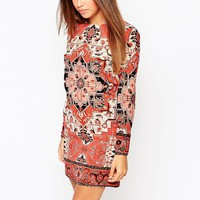 Warehouse Tapestry Print Dress at asos.com