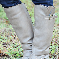 Running Free Boots: Taupe/Gold | Hope's