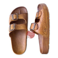 Light Brown Buckle Pali Hawaii - Hawaiian Jesus Sandals
