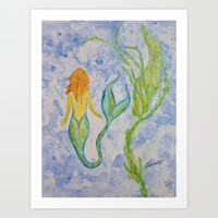 Mermaid Art Print by Liveart4evr