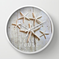 beach house Wall Clock by Sylvia Cook Photography
