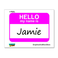 Jamie Is Hello My Name Is Sticker