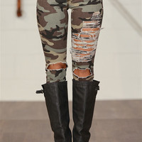At Ease Camo Jeans