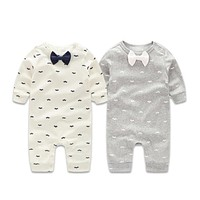 Baby Boys Clothing Sets Gentleman Spring born Baby Clothes Long Sleeve Baby Boy Clothes Infant Jumpsuits