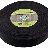 Country Brook Design® 2 Inch Black Heavy Polypro Webbing, 10 Yards