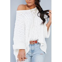 Cozy With You POL Sweater (Snow White)