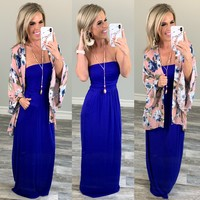 Your so Classic Pocket Maxi Dress: Royal