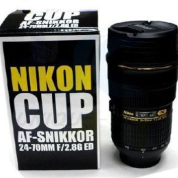 ZOOM-ABLE! Coffee Mug in the Shape of Nikon 24-70 Lens, Interior is Stainless