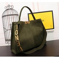 Fendi Women's Leather Shoulder Crossbody Bag Satchel Tote Bags
