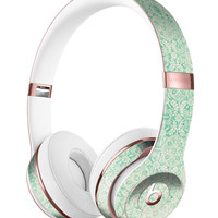 Micro Faded Green Damask Pattern Full-Body Skin Kit for the Beats by Dre Solo 3 Wireless Headphones