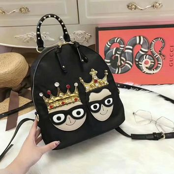 Autumn and winter new classic double crown figure backpack
