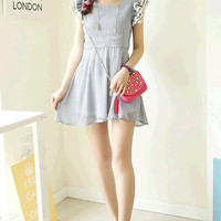 High Waist Chiffon Mini Dress