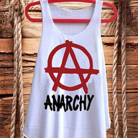 Cool Punk Anarchy Symbol  best design for Tank top mens and Tank top Girls fashion