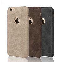 "New High-quality Classic Vintage Leather Case for iphone 5 5S SE / 6 6S 4.7""/ Plus 5.5"" luxury Ultra Slim Scrub phone Back Cover"