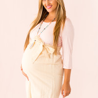 Actually Adorable Maternity Dress in Peach