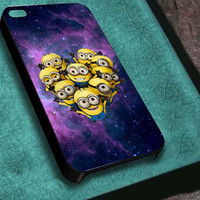 despicable me minions space customized for iphone 4/4s/5/5s/5c ,samsung galaxy s3/s4/s5 and ipod 4/5 case