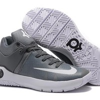 DCCK2 N314 Nike Zoom KD Trey 5 iv Low Actual Basketball Shoes Grey White