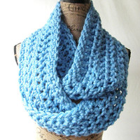 Ready To Ship New Large Light Blue Winter Blue Chunky Scarf Fall Winter Women's Accessory Infinity 164