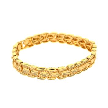 Dear Deer Gold Plated Elegant Oval Link Bracelet