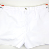 Vintage Lacoste White Tennis Shorts - Red, Blue, Green, Men, Sexy, Sport, Crocodile - Izod Lacoste Trunks