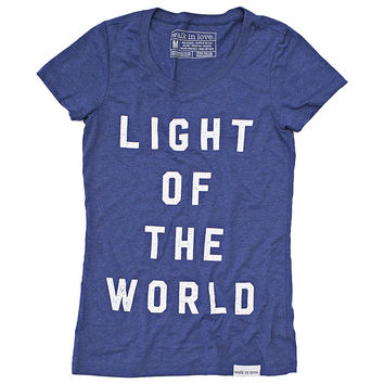 Light of the World Navy Women's T-Shirt