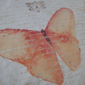 Nature fabric handmade butterfly quilt square cotton muslin art patch home decor
