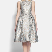 Women's Mary Katrantzou Cookie Cutter Brocade Full Skirt Dress