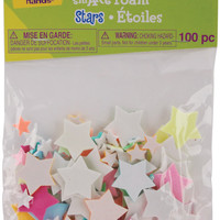 foam stickers 100/pkg-glow in the dark stars