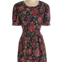 ModCloth Short Length Short Sleeves A-line You Know How It Rose Dress