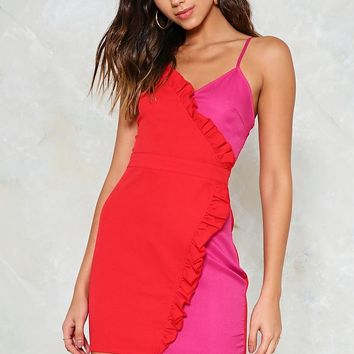 On the Bright Side Wrap Dress