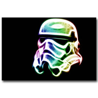 Stormtrooper - Psychedelic Trippy Art Silk Fabric Poster Print 13x20 24x36inch