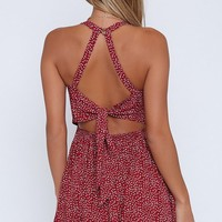 Good Day Dress Red Floral