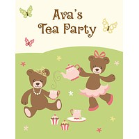 Tea Party Activity / Coloring Book