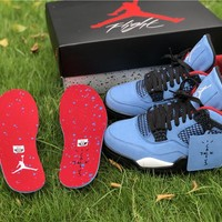 "TS x Air Jordan 4 Retro ""Houston Oilers"""